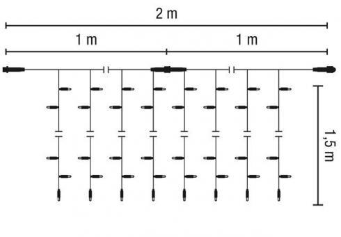 LED-Lichtervorhang-36V