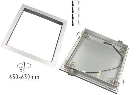 Einbaurahmen für LED Panel 62x 62, mlight
