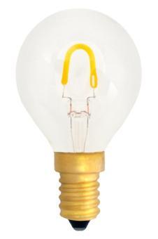 LED curved FILAMENT Tropfenformlampe (E)